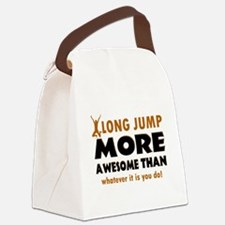 Awesome long jump designs Canvas Lunch Bag