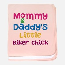 Little Biker Chick baby blanket