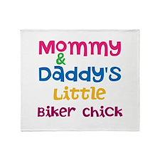 Little Biker Chick Throw Blanket