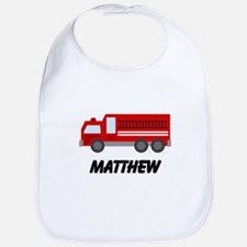 Personalized Fire Truck Bib