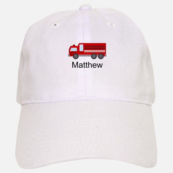 Personalized Fire Truck Baseball Baseball Cap
