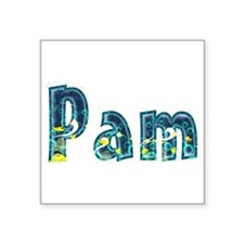 Pam Under Sea Square Sticker