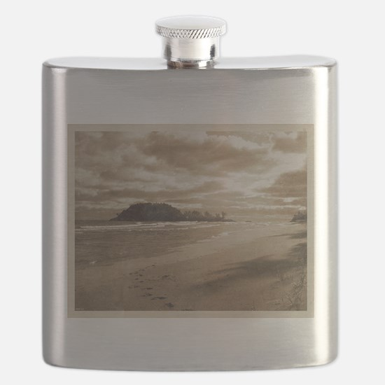 Footsteps In The Sand Flask