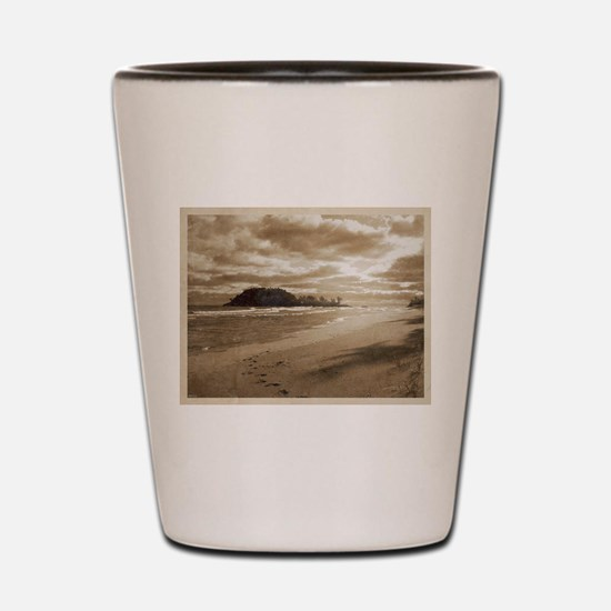 Footsteps In The Sand Shot Glass