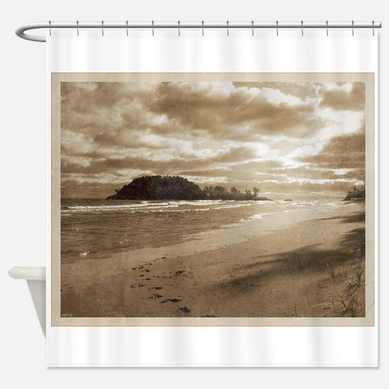 Footsteps In The Sand Shower Curtain