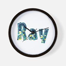 Ray Under Sea Wall Clock
