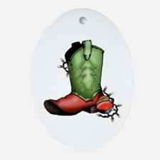 Holiday Boot Oval Ornament