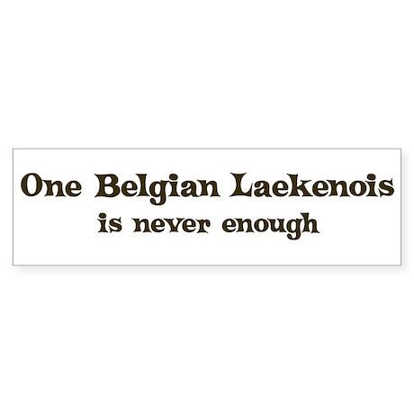 One Belgian Laekenois Bumper Sticker