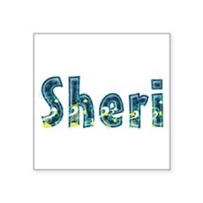 Sheri Under Sea Square Sticker