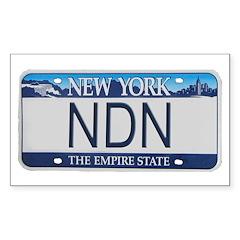 New York NDN Rectangle Decal