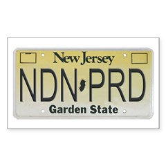 New Jersey NDN Pride Rectangle Decal