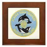 Alaska Police Dive Unit Framed Tile