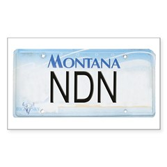 Montana NDN Pride Rectangle Decal