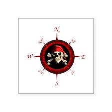 Pirate Compass Rose Sticker