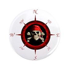 "Pirate Compass Rose 3.5"" Button"
