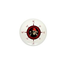 Pirate Compass Rose Mini Button (10 pack)