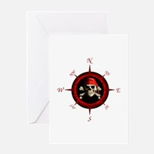 Pirate Compass Rose Greeting Card