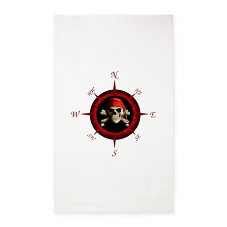 Pirate Compass Rose 3'x5' Area Rug