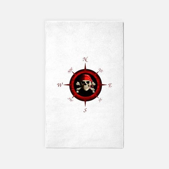 Pirate Compass Rose 3'x5' Area Rug