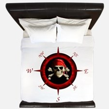 Pirate Compass Rose King Duvet