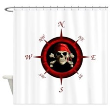 Pirate Compass Rose Shower Curtain