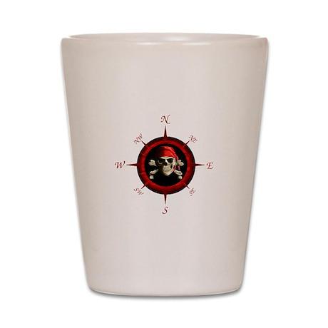 Pirate Compass Rose Shot Glass