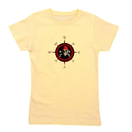 Pirate Compass Rose Girl's Tee