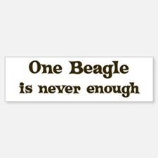 One Beagle Bumper Bumper Bumper Sticker