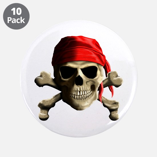 """Jolly Roger 3.5"""" Button (10 pack)"""
