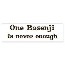 One Basenji Bumper Bumper Sticker