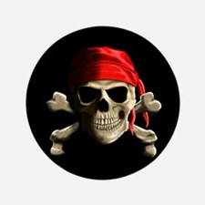 "Jolly Roger 3.5"" Button"