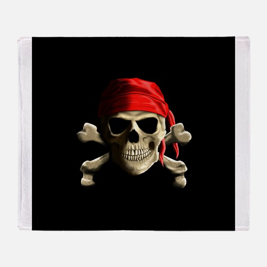 Jolly Roger Throw Blanket