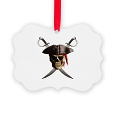 Pirate Skull And Swords Ornament