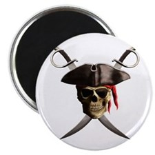 "Pirate Skull And Swords 2.25"" Magnet (100 pack)"