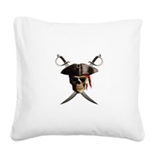 Pirate Skull And Swords Square Canvas Pillow