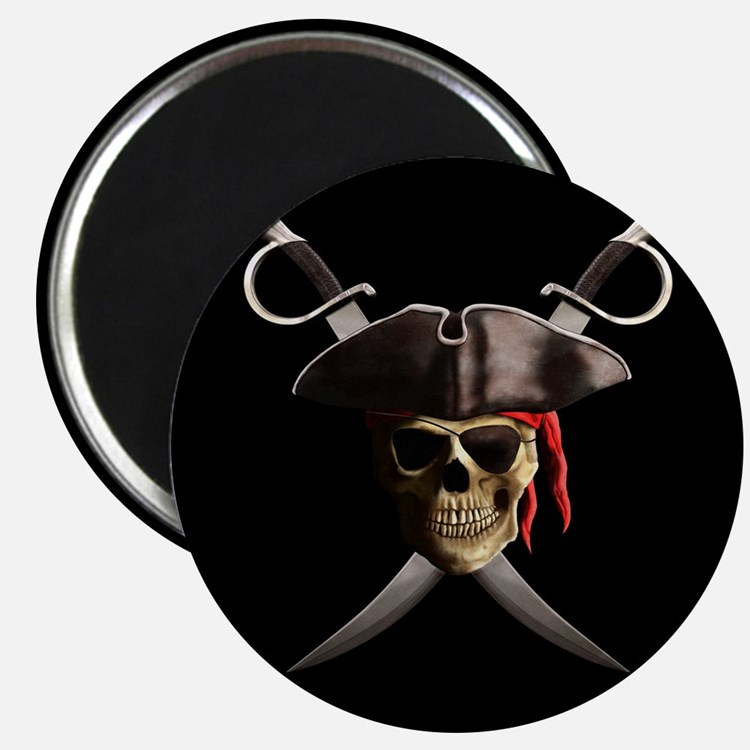 Pirate Skull And Swords Magnet