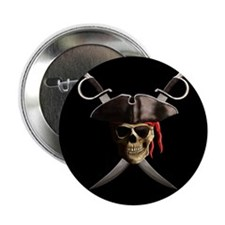 "Pirate Skull And Swords 2.25"" Button"