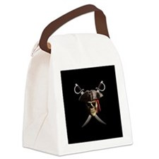 Pirate Skull And Swords Canvas Lunch Bag