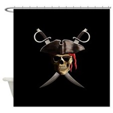 Pirate Skull And Swords Shower Curtain