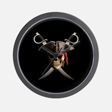 Pirate Skull And Swords Wall Clock