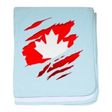 Cute Maple leaf baby blanket