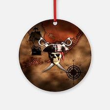 Pirate Map Ornament (Round)
