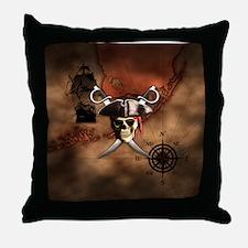 Pirate Map Throw Pillow