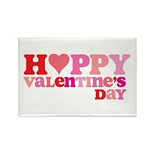 Retro Happy Valentine's Rectangle Magnet