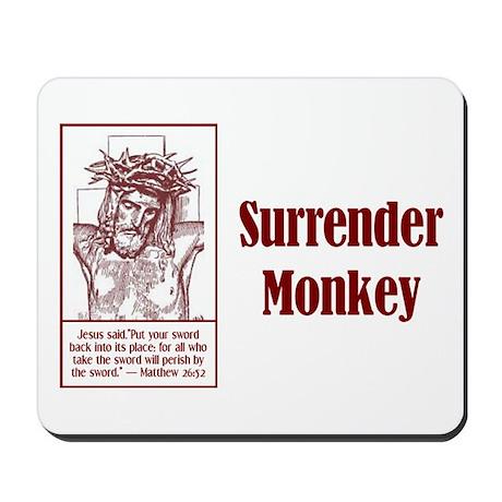 Surrender Monkey Mousepad