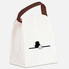 TopHatBlackCaneWhiteGloves073011. Canvas Lunch Bag