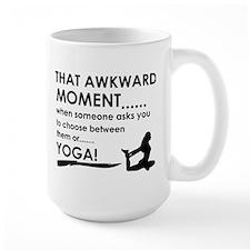 Awkward moment Yoga designs Mug
