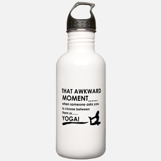Awkward moment Yoga designs Sports Water Bottle