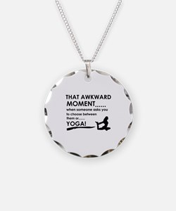 Awkward moment Yoga designs Necklace