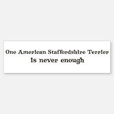 American Staffordshire Terrie Bumper Bumper Bumper Sticker